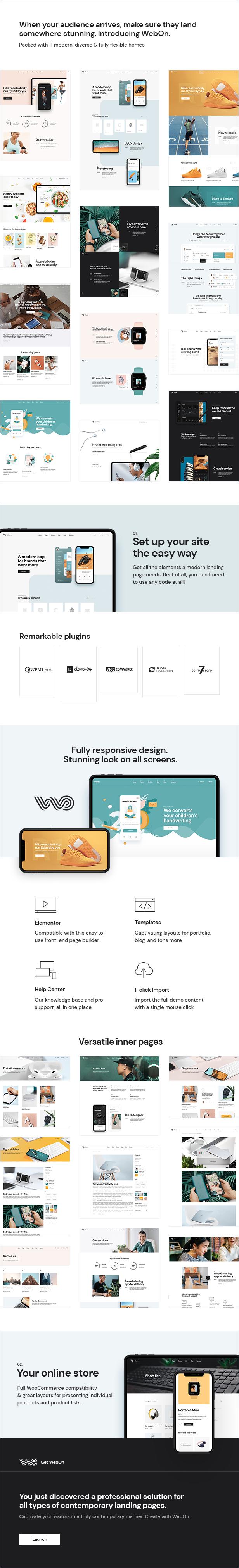 WebOn - Landing Page WordPress Theme - 1